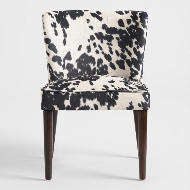 Groovy Joanne Black White Dot Modern Arm Chair Caraccident5 Cool Chair Designs And Ideas Caraccident5Info