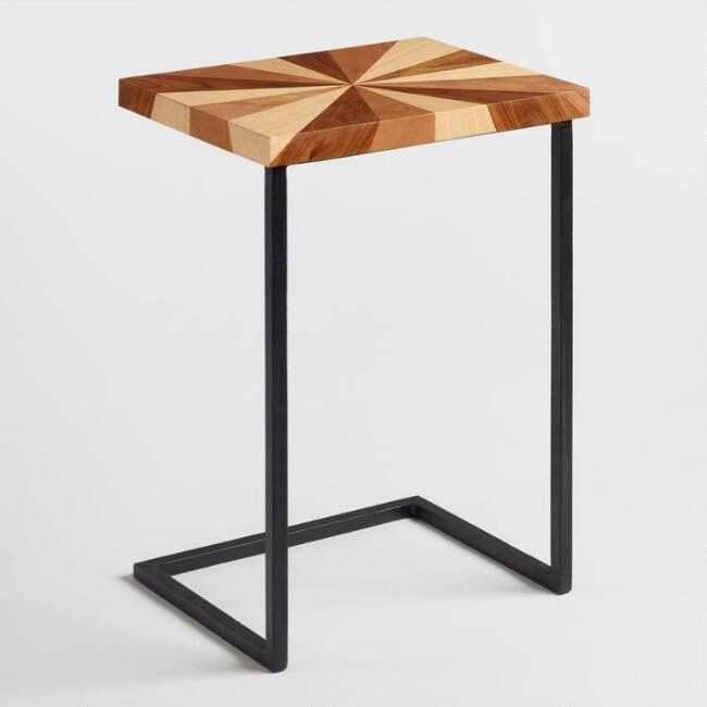 Marble And Gold Margaux Laptop Table: Margaux Marble Gold Laptop Table