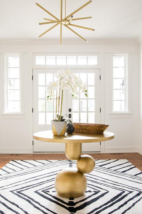 Round Glass Top Foyer Table Contemporary Entrance Foyer