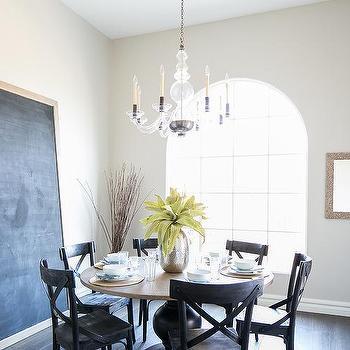 Dining Room Framed Leaning Chalkboard Design Ideas