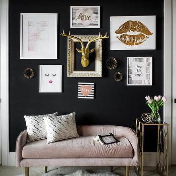 Kids Bedroom Pink Sofa Design Ideas