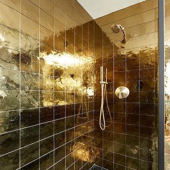 Brushed Gold Shower Kit Design Ideas