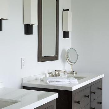 Dark Brown Bathroom Vanity Design Ideas