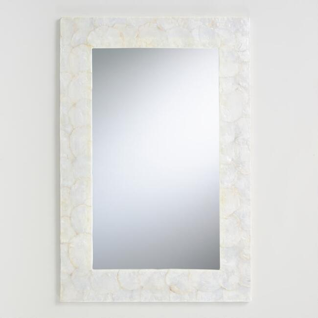 Traditional White Wall Mirror