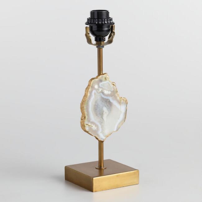framed agate slices.htm natural agate brass accent lamp base  natural agate brass accent lamp base