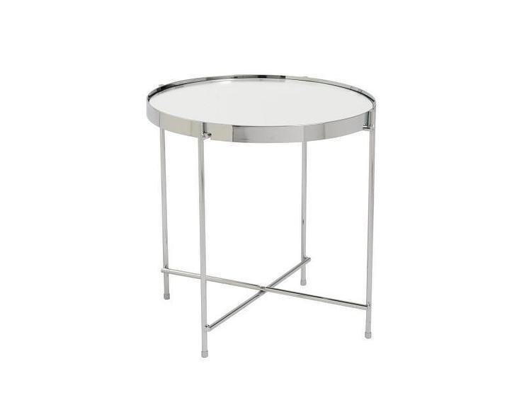 Valentine Round Chrome Mirrored Side Table