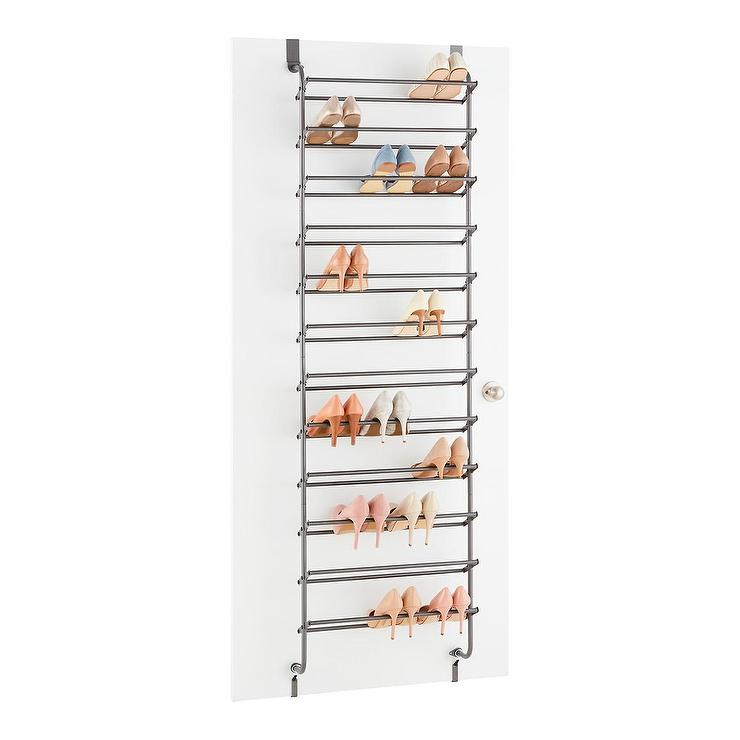 sc 1 st  Decorpad & Gunmetal 36 Pair Over Door Shoe Rack