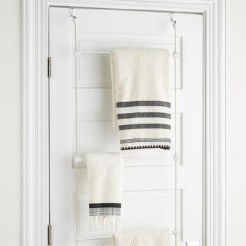 Jackson Wall Mount Black Towel Rack