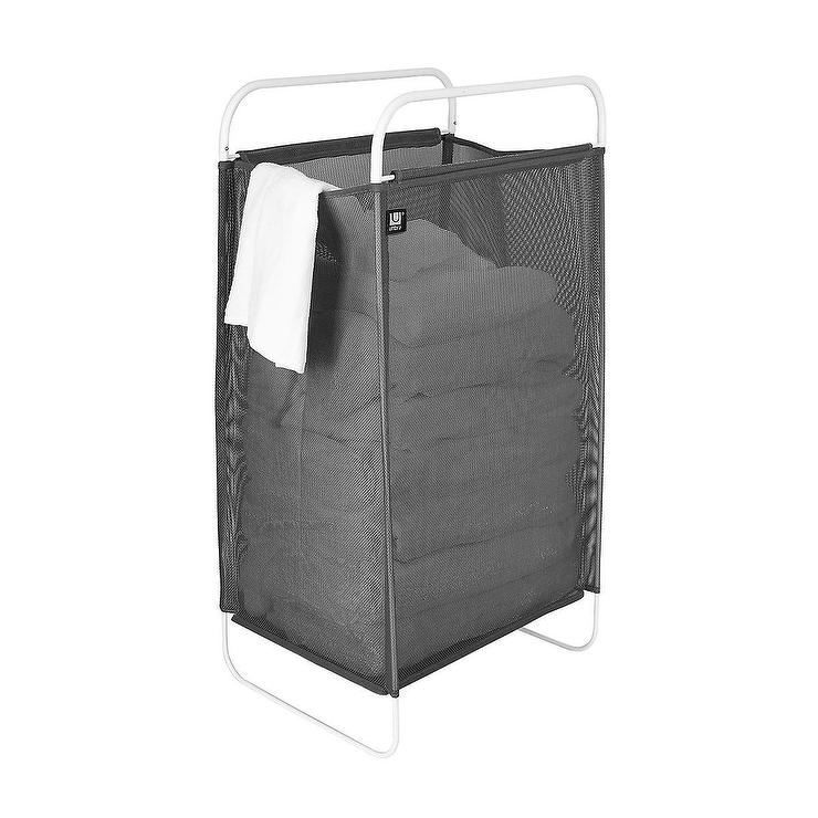 Umbra Cinch Gray Mesh Laundry Hamper