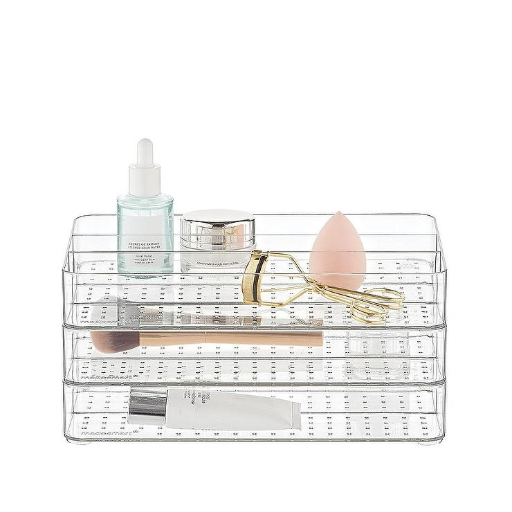 Clear Bathroom Stackable Drawer Trays Kit