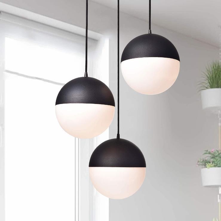 Fabiola matte black 3 light globe pendant chandelier aloadofball Images
