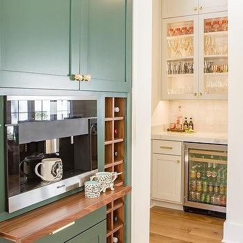 Tarrytown Green Kitchen Cabinets Design Ideas