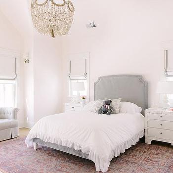 Clear Beaded Girls Bedroom Chandelier Design Ideas