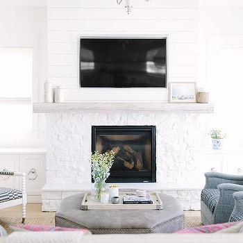 Shiplap Fireplace Facade Design Ideas