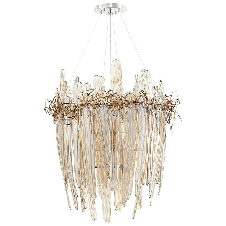 small glass chandelier mini thetis small copper glass light chandelier sculptural products bookmarks design