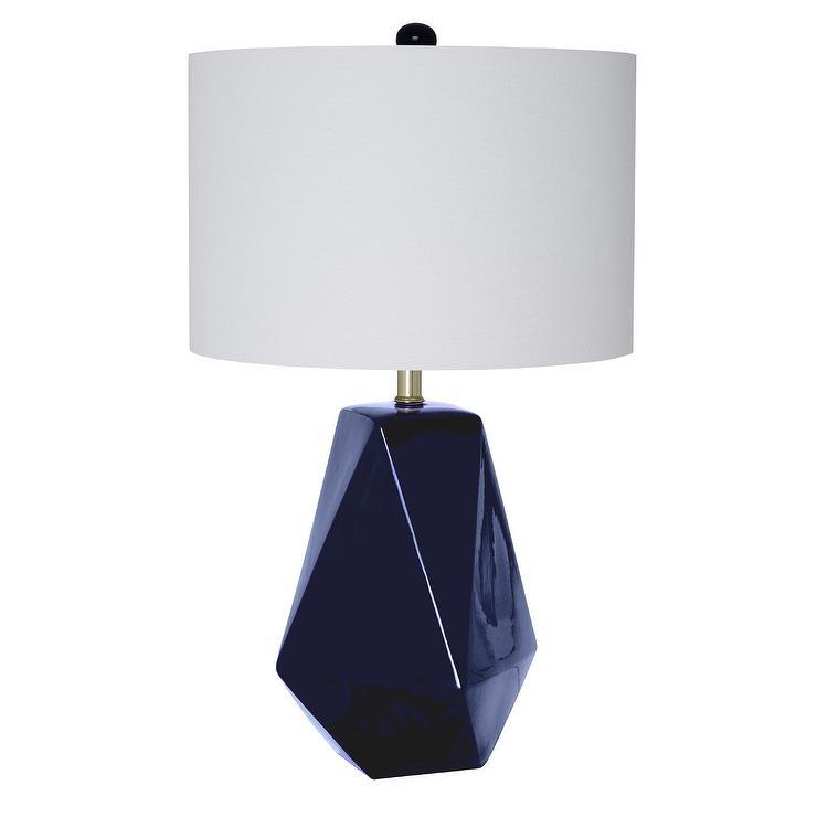 0d803da35 Micah Navy Geometric Ceramic Table Lamp