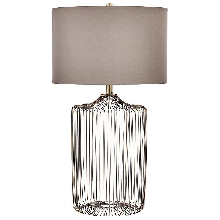 Whisker Thin Brass Iron Wire Table Lamp