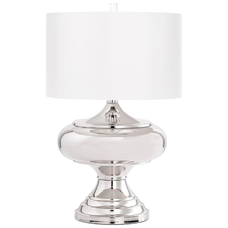 Topspin curvy brushed nickel table lamp aloadofball