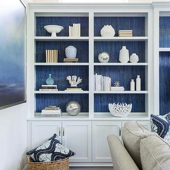 White And Blue Bookshelf Design Design Ideas