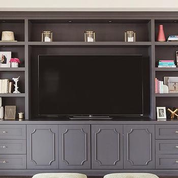 Gray Built Ins Transitional Living Room Linda