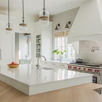 Large White Glass Kitchen Wall Tiles Design Ideas