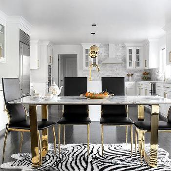 Rectangular Marble Dining Table Top Design Ideas