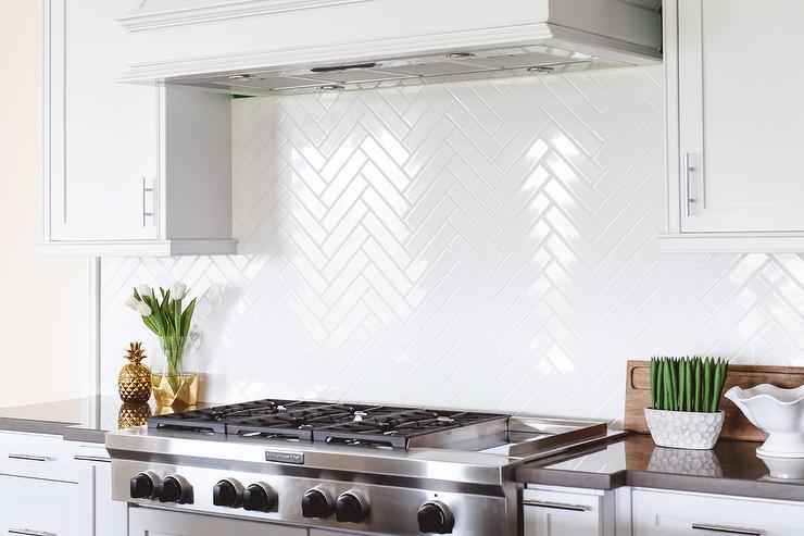 herringbone pattern cooktop tiles transitional kitchen. Black Bedroom Furniture Sets. Home Design Ideas