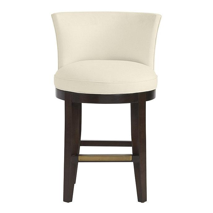 Phenomenal Millie White Leather Barrel Back Counter Stool Uwap Interior Chair Design Uwaporg