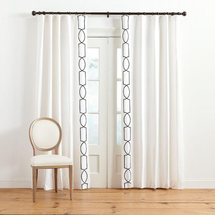 Curtain Panels White And Blue