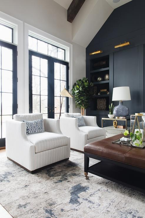 Pleasing White Stripe Accent Chairs With Silver And Blue Rug Andrewgaddart Wooden Chair Designs For Living Room Andrewgaddartcom