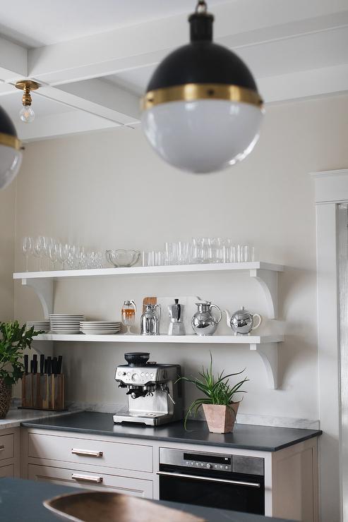 White And Taupe Kitchen Cottage Kitchen Hgtv