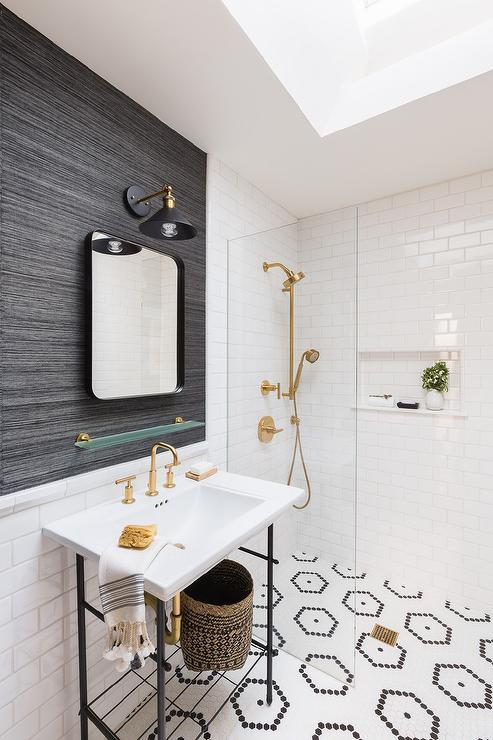 Small Glass Shower Modern Bathroom Diane Bergeron