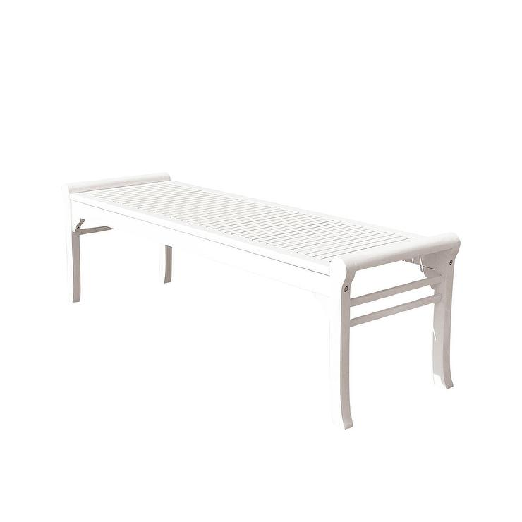 Swell Bradley White Outdoor Wood Garden Bench Gmtry Best Dining Table And Chair Ideas Images Gmtryco