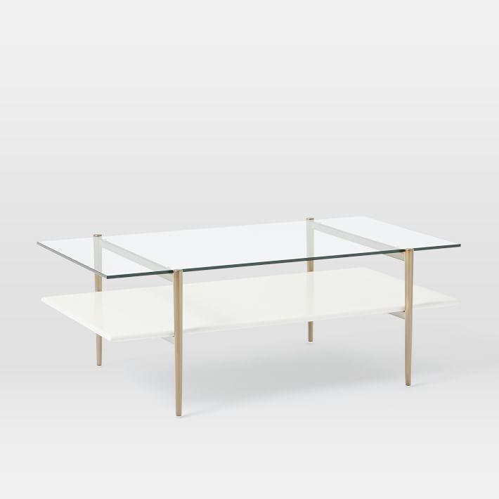Reeve Mid Century Grey And Brown Coffee Table