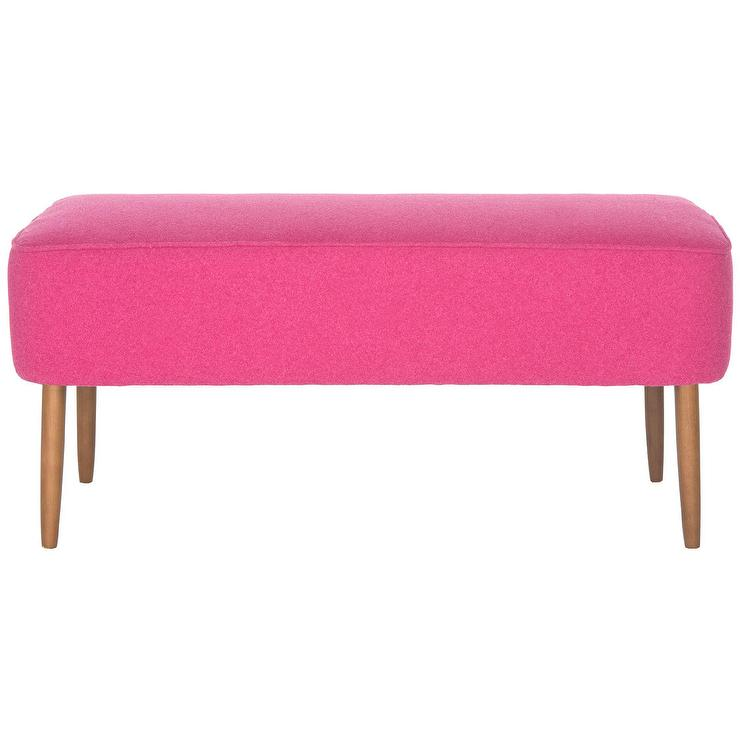 com benches ottomans hautehousehome rebecca pink house haute bench tufted p and home
