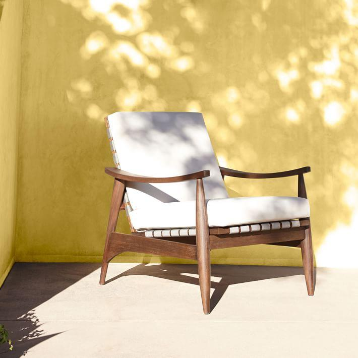 Admirable Mid Century Outdoor Show Wood Turned Lounge Chair Bralicious Painted Fabric Chair Ideas Braliciousco