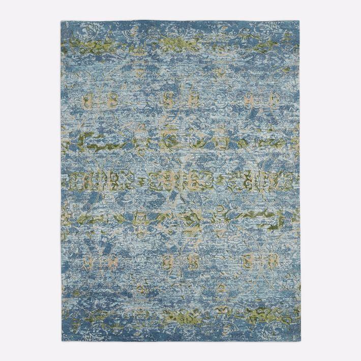 Gemini Blue Teal Hand Tufted Wool Rug