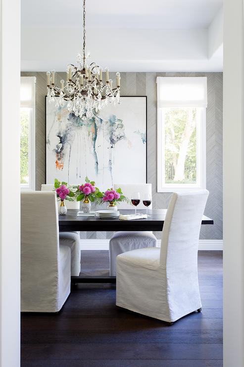 Remarkable White Slipper Chairs With Black Trestle Dining Table Dailytribune Chair Design For Home Dailytribuneorg