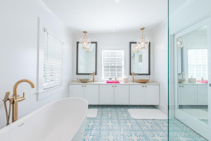 Blue Gray Paint Colors Transitional Bathroom