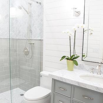 Guest Bathroom With Shiplap Transitional Bathroom
