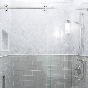 Mini Beveled Subway Tiles Cottage Bathroom Talk Of