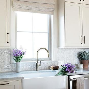 Gray Tin Kitchen Backsplash Tiles Design Ideas
