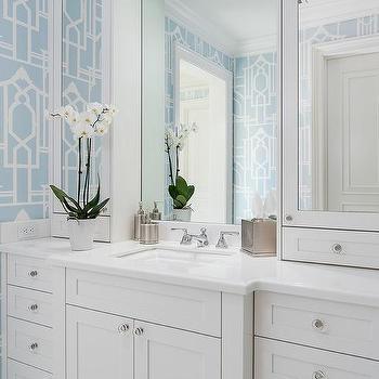 Blue Shaker Bathroom Cabinets Design Ideas