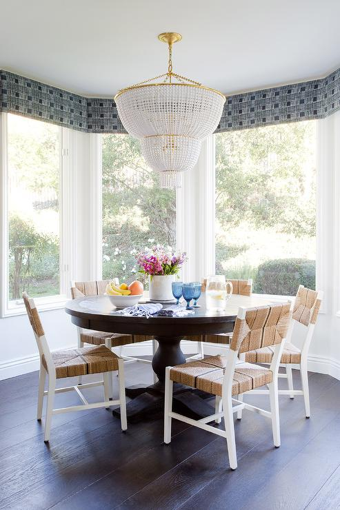 Dark Brown Dining Table With See Through Dining Chairs