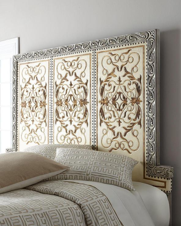 Medallion Motif Carved Headboard Products Bookmarks