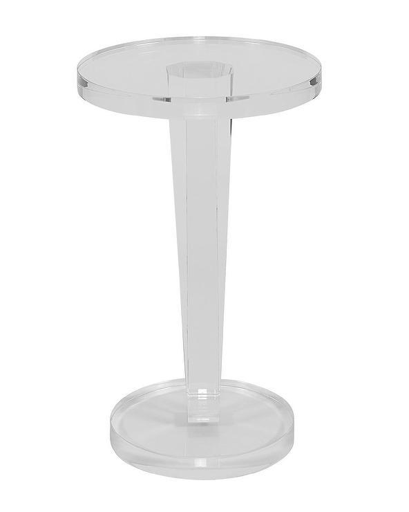 Peekaboo Clear Coffee Table: Peekaboo Clear Low Side Table