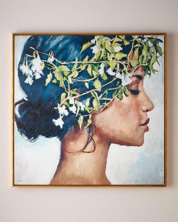 RFA Fine Art Blue Hair Goddess Framed Wall Art
