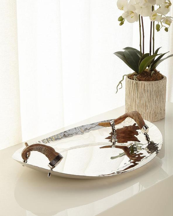 Regina Andrew Nickel Bamboo Tray Table