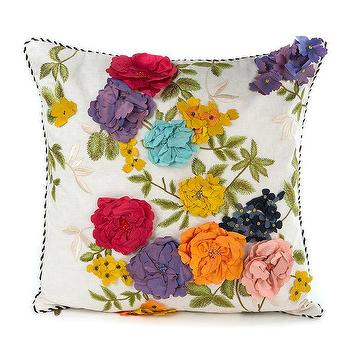 65cf1d92a5a381 MacKenzie-Childs Covent Garden Floral Square Pillow