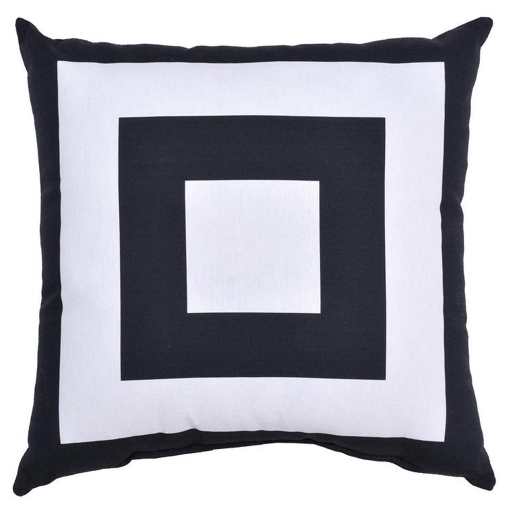 Project 62 Square Black White Striped Outdoor Throw Pillow
